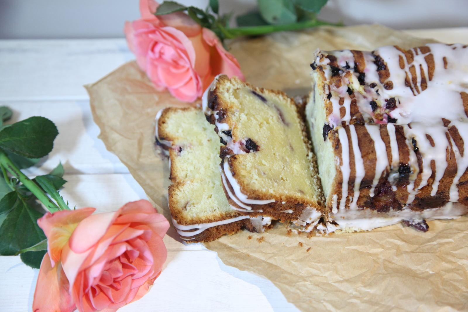 Lemon & Berry marbled loaf cake