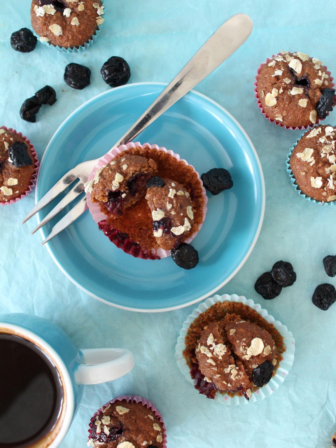 Mini vegan blueberry muffins