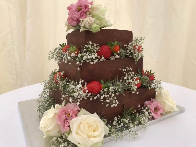 chocolate tiffin wedding cake