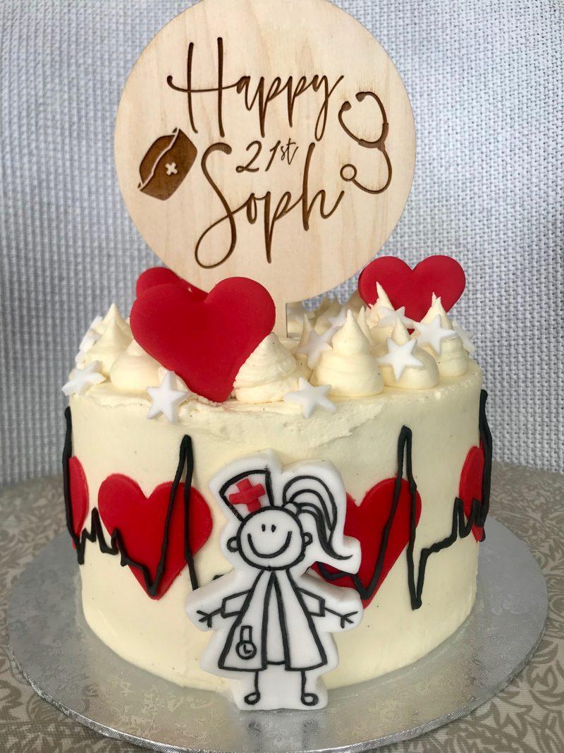 gluten free victoria, birthday cake