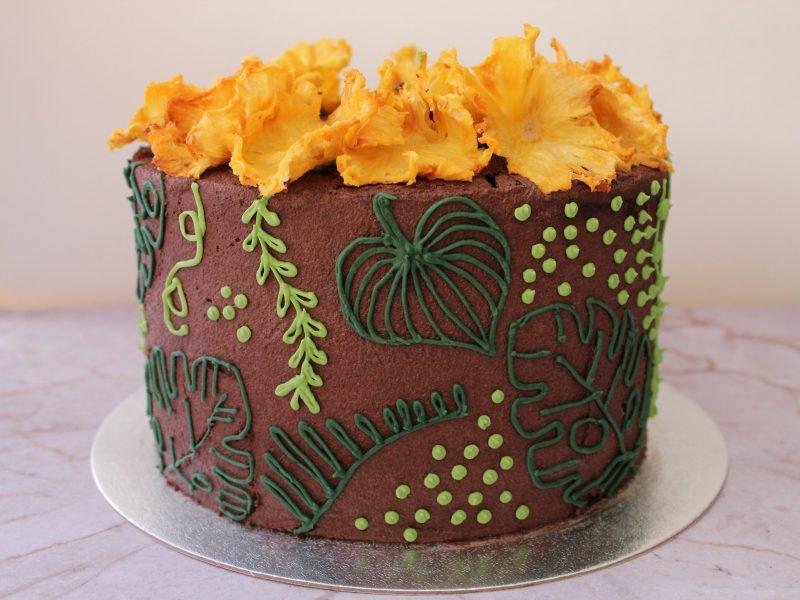 Vegan Jungle chocolate cake