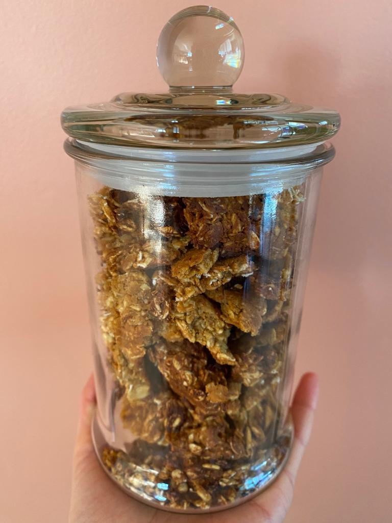 Chunky, High-protein granola (with foodie facts)